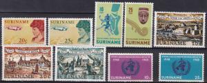 Surinam #345-53  F-VF Unused CV $3.35  Z728
