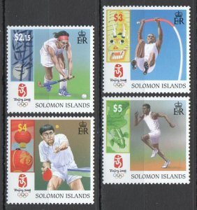 X1589 SOLOMON ISLANDS SPORT OLYMPIC GAMES BEIJING 2008 1SET MNH