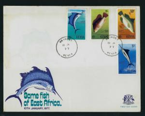 KENYA 1977 Hame Fish of East Africa First Day Cover Nairobi CDS