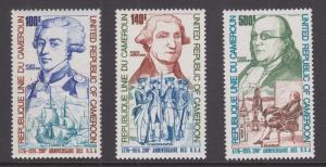 Cameroun Sc C227-C229 MNH. 1975 US Bicentennial, complete set,  VF