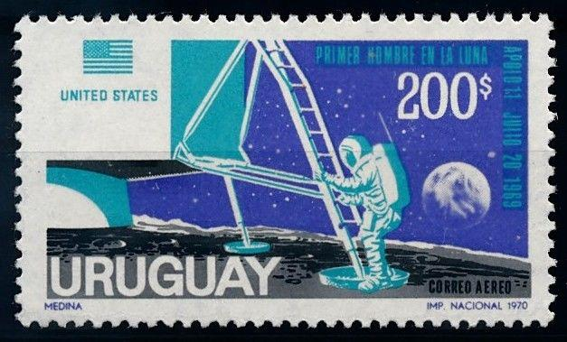 [66081] Uruguay 1970 Space Travel Weltraum Apollo 11 Airmail MNH