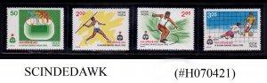 INDIA - 1982 IX ASIAN GAMES, NEW DELHI (6th ISSUE) 4V MNH