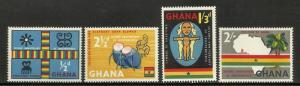 Ghana 1959 Scott# 42-45 MNH
