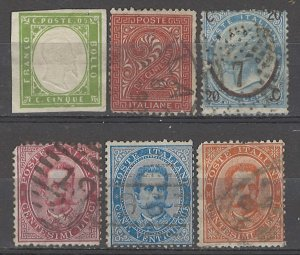 COLLECTION LOT # 5087 ITALY 6 STAMPS 1855+ CV+$21