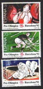 Spain. 1990. 2933-35. Barcelona Summer Olympics. MNH.