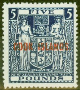 Cook Islands 1931 £5 Indigo-Blue SG98b Very Fine MNH