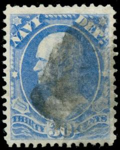 momen: us Stamps #O44 Used Official PF Cert