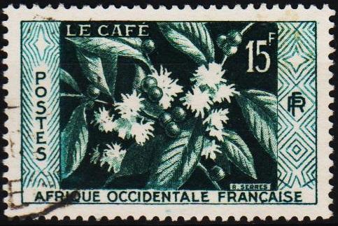 French West Africa.1956 15f S.G.93 Fine Used