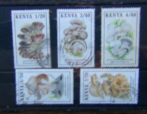 Kenya 1989 Mushrooms set Fine Used
