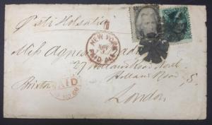 momen: US Stamps #96 / #93 Used on Cover to London