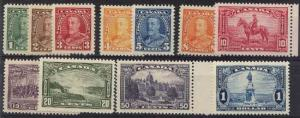 Canada - 1935 KGV & Pictorials VF-NH mint #217-227