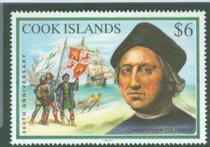 Cook Islands 1992 Scott 1107 Columbus Founding MNH