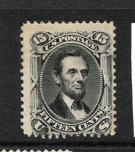 US 1861-66  15c  LINCOLN    MLH    Sc 77