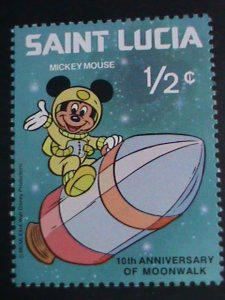 DISNEY-ST. LUCIA STAMP- DISNEY CARTOON-SPACE HEROES MINT SET VERY FINE