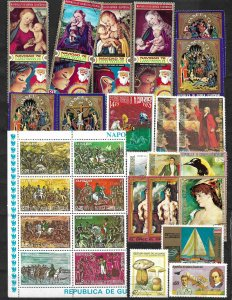 COLLECTION LOT OF 35 EQUATORIAL GUINEA STAMPS CLEARANCE 2 SCAN
