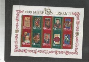 AUSTRIA SCOTT# 1710, FULL SHEET, MNH, OG
