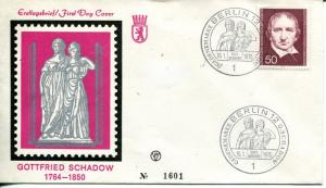 Germany Gottfried Schadow  1975 First Day cover