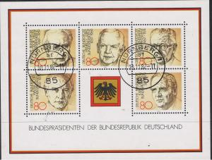 GERMANY 1982 PRESIDENTS - SHEET OF 5