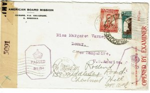 Southern Rhodesia 1944 Craigmore cancel on cover to the U.S., censored