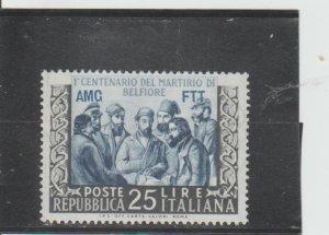 Trieste  Scott#  162  MH  (1953 Overprinted)