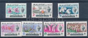 Malaysian stamp Trengganu Orchids set MNH 1965 Mi 87-93 Orchids WS223578