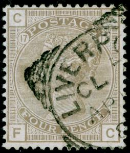SG160, 4d grey-brown plate 18, FINE USED, CDS. Cat £75. FC