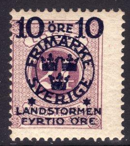 1916 Sweden Fyrtio  semi postal issue MNH Sc# B18 CV $140.00