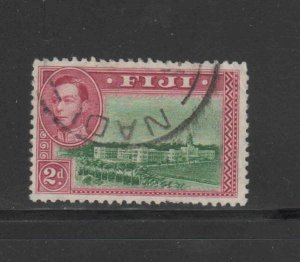 FIJI #121  1938  2p    KING GEORGE VI & GOVERMENT BUILDINGS   F-VF  USED