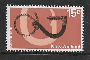 NEW ZEALAND, 450, MINT HINGED, MAORI FISH HOOK