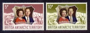British Antarctic Territory Sc#  43-4 MNH 25th Wedding Anniv