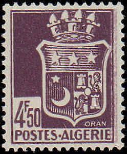 1942-1945 Algeria #147-158, Complete Set(12), Hinged