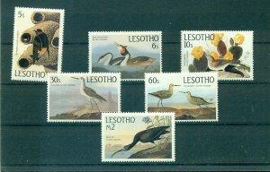 Lesotho - Sc# 481-6. 1985 Birds, Audubon. MNH $10.00.