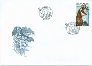 SLOVAKIA/1996, (FDC) Nature Conservation - The Tatra chamois (Fauna), MNH