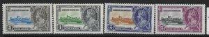 BRITISH HONDURAS SG143/6 1935 SILVER JUBILEE SET MNH
