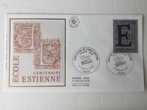 France Colorano silk FDC, 4 février 1989, Centenaire de l'école Estienne