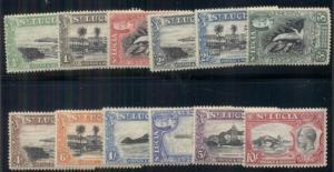 ST LUCIA #95-106 Complete set, og, NH, normal dried gum, VF, Scott $225.00