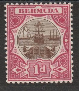 BERMUDA 1906 DRY DOCK 1D WMK MULTI CROWN CA