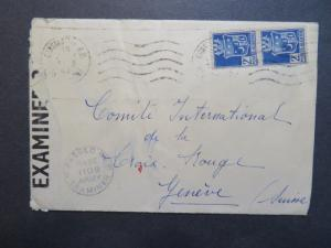 Algeria 1943 Constantine POW Censor Cover to Switzerland - Z8010