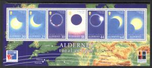 Alderney 133a Total Eclipse Souvenir Sheet MNH VF
