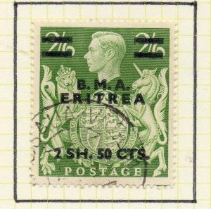 Eritrea 1948-50 Early Issue Fine Used 2S.50c. Surcharged BMA Optd 308050
