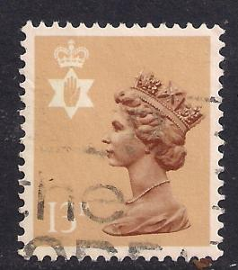 Northern Ireland GB 1986 QE2 13p Pale Chestnut Machin SG NI 37Ea ( J451 )