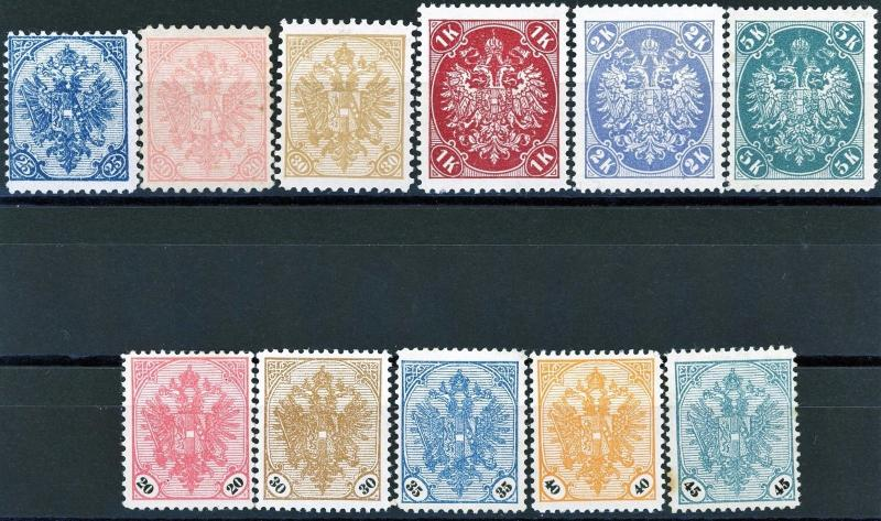 Bosnia 1900 + 1901 Issues MH with 2 Key Stamps Scotts 17-19 22-24 25-29 Cat>