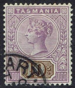 TASMANIA 1892 QV TABLET 10/- WMK TAS USED