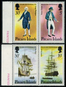 Pitcairn Islands Scott 156-159 Mint never hinged.