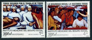 Mexico C553-C554 blocks/4,MNH.Michel 1574-1575. Social Security Institute,1978.
