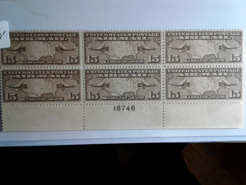SCOTT # C8 MINT NEVER HINGED PLATE BLOCK OF 6 GEM !! AIR MAIL !! VERY NICE !!!
