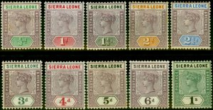 Sierra Leone 1896-97 Set of 10 to 1s SG41-50 Fine Mtd Mint