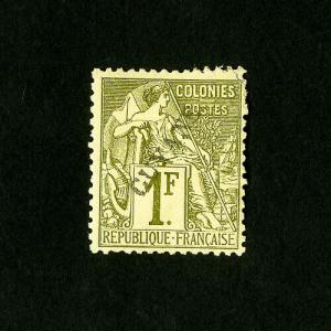 French Guiana Stamps # 30 XF OG LH Catalog Value $250.00