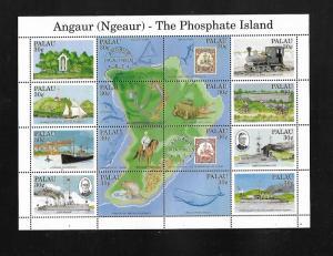 PALAU, 263 (a-p), MNH, ANAUR (NGEAUR) - THE PHOSPHATE ISLAND