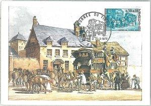 26327 - FRANCE  - POSTAL HISTORY - MAXIMUM CARD 1973 - Journee du Timbre